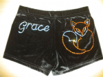 Personalised shorts with a fox